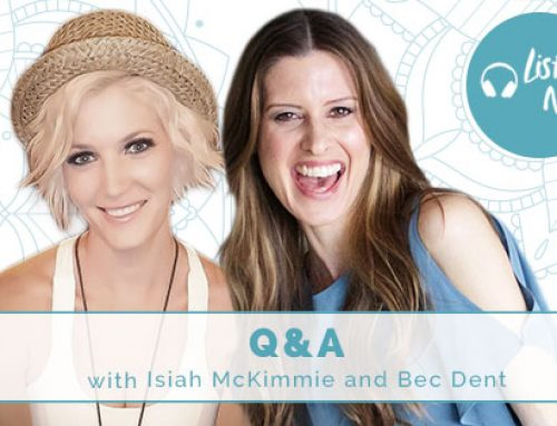 Q + A with Isiah McKimmie and co-host, Bec Dent